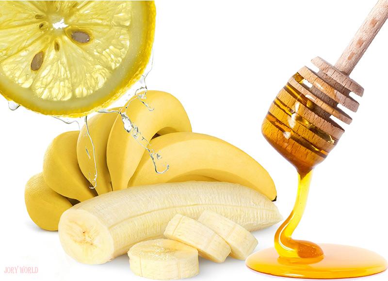 Banana-with-Honey-and-Lemon-Juice-for-Facial-Mask