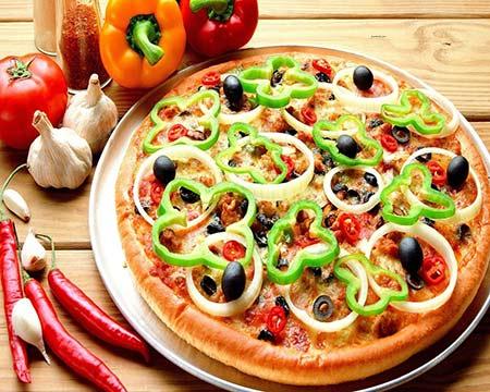 بيتزا-الخضروات-اللذيذة