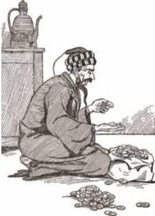 نوادر-جحا-جحا-يعد-الدنانير